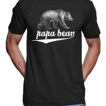 Papa Bear T Shirt - Grizzly Bear TShirt - Fathers Day Gift Tees - Gifts For Him - Gifts For Dad Mens Tshirts Funny Tshirts Husbands Hubby
