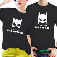 NSC-Her Batman and His Catwomen Mask Couples Matching Shirts, Couples T Shirts, Funny Couple Shirts