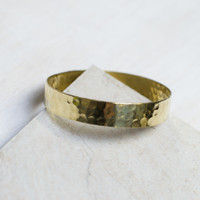 Hammered Flat Bangle