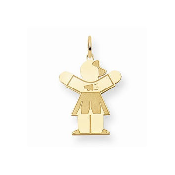 14k Yellow Gold Cheerleader Girl Love Charm