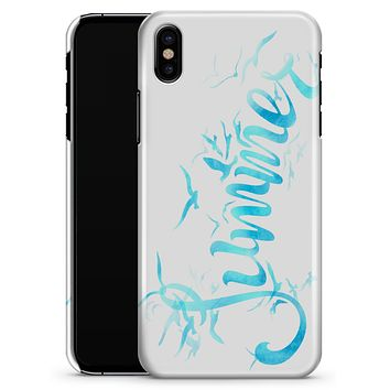 Summer Blue Watercolor Seagulls - iPhone X Clipit Case