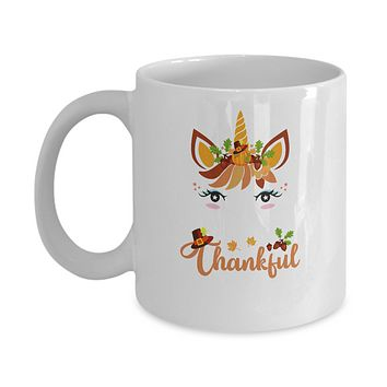 Thanksgiving Unicorn Pumpkin For Kids Mug