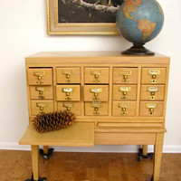 Card Catalog Industrial School Library 15 drawer by AustinModern