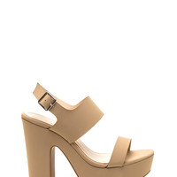 Go All Out Chunky Faux Nubuck Heels