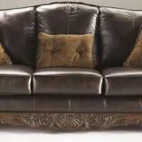 North Shore Dark Brown Sofa from Ashley | FurnitureETC.com | 2260338