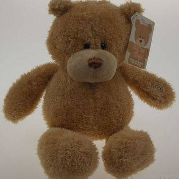 "Baby Gund Hug Me Hugo Bear 16"" Soft Interactive Plush Toy Talks Animated Stuffed"