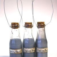 Harry Potter Potion- Unicorn Blood in a Corked Glass Bottle