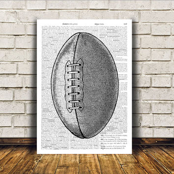 Football print Antique art Sport poster Modern decor RTA351