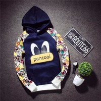 Winter Stylish Men's Fashion Korean Hats Pullover Hoodies Print Couple Jacket [6541156547]