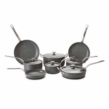 CeraStone Granite Peak 13-pc. Nonstick Aluminum Cookware Set (Grey)