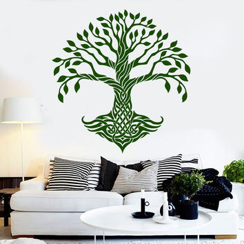 Vinyl Wall Decal Celtic Tree Pattern Ireland Irish Art Decor Stickers Murals Unique Gift (ig4806)