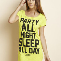ideeli | XOXO INTIMATES Open Neck Oversized Sleep Shirt