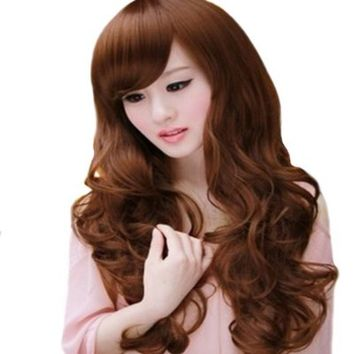 Cool2day Womens Fashion Design Long Curly Hair Fluffy Style Wigs (Model :JF011111)