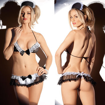 Cute On Sale Hot Deal Plus Size See Through Sexy Uniform Exotic Lingerie [6594651011]