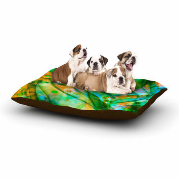 "Ebi Emporium ""Flourish - Green"" Emerald Floral Dog Bed"