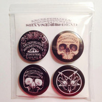 Nu Goth Pin Back Button set