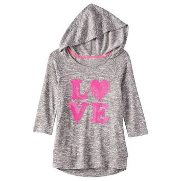 DCCKX8J Miss Chievous Sequined Hooded Top - Girls