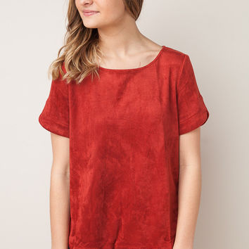 Suede Dreams Rust Top