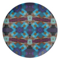 Bohemian ornament in ethno-style, Aztec Dinner Plate