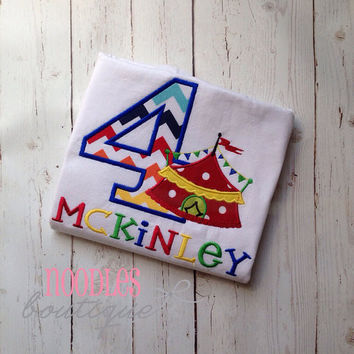 Circus Tent Themed Birthday Shirt