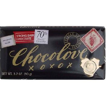 Chocolove Strong Dark Chocolate Bar (12x3.2 Oz)