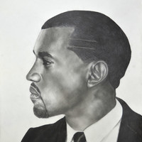 Kanye West Stretched Canvas by Michael Durocher