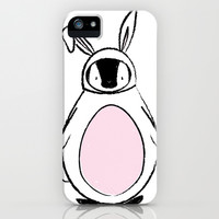 Penguin in a bunnysuit iPhone & iPod Case by Nikki Sylianteng