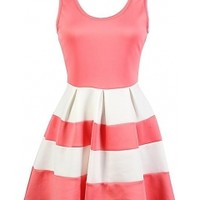 The Skater Colorblock Dress