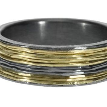 Todd Reed 18k Yellow Gold & Sterling with Patina Ring, Style trdr218