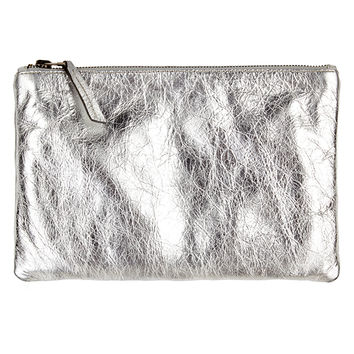 AMELIA SILVER LEATHER ZIP CLUTCH-silver-leather-one