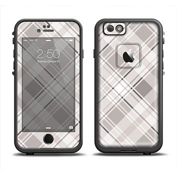 The Gray & White Plaid Layered Pattern V5 Apple iPhone 6 LifeProof Fre Case Skin Set
