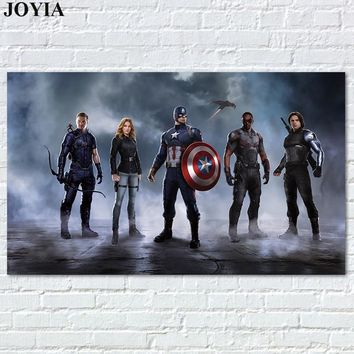 Marvel Movie Comics Poster Captain America Civil War Heroes Team Posters Prints Fabric Wall Art Picture For Bedroom Decoration