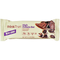 Think Products Thin Bar - Chocolate Espresso - Case Of 10 - 2.1 Oz