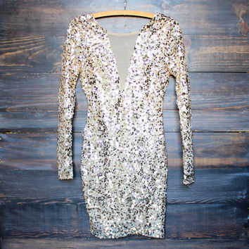dazzling sequin party dress - more colors