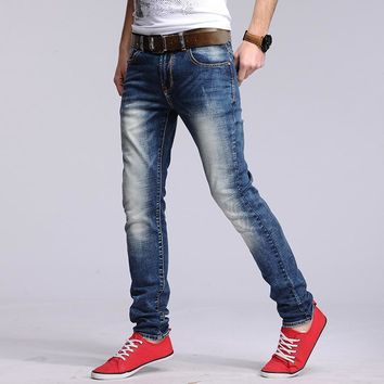 England Style Cotton Men Slim Jeans [6528727747]