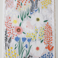 Grey Floral Dishtowel by lisaruppdesign on Etsy