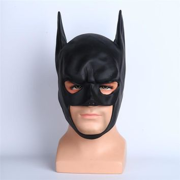 Takerlama Movie Batman Arkham Knight Bat Helmet Mask Superman Bruce Wayne Cosplay Mask Halloween Fancy Party PVC Mask Props