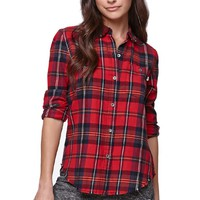 Vans Obsession Flannel Shirt - Womens Shirts - Red