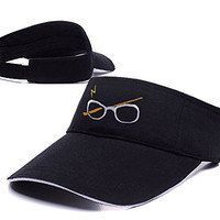 DEBANG Harry Potter Glasses Juniors Visor Cap Adjustablep Embroidery Baseball Tennis Golf Sun Hat Sports Visors