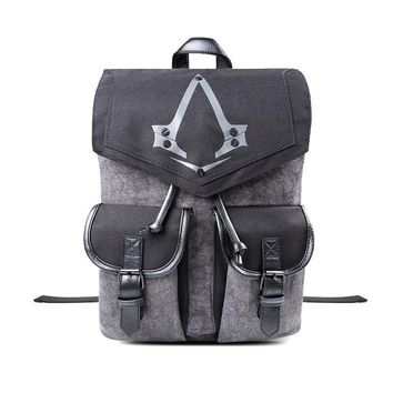 Assassins Creed Syndicate Logo Backpack / Bag / Rucksack Same Day Shipping 10pcs/lot Free DHL