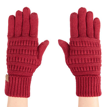 LE3NO Womens Winter Knitted Touchscreen Compatible Tech Gloves