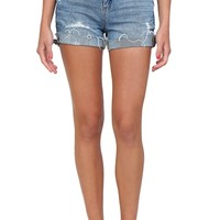 Light-Wash Denim High-Waisted Shorts from Blank Denim at Blush Boutique Miami - ShopBlush.com : Blush Boutique Miami – ShopBlush.com