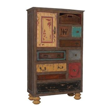 Mosaic Treasure Chest Weathered Mahogany