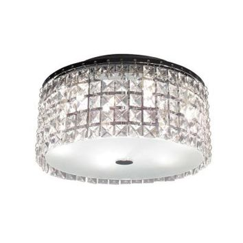 Hampton Bay, Glam Cobalt 3-Light Brushed Chrome Ceiling Light, PL3413CC at The Home Depot - Tablet
