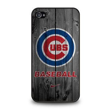 CHICAGO CUBS WOODEN LOGO iPhone 4 / 4S Case Cover