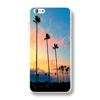 Palm Trees Purple Sky Sunset Printed Ultra Thin PC Plastic Phone Case Cover Shell For iPhone 6 6S 4.7 inch