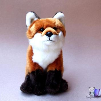 Red Fox Stuffed Animal Plush Toy 10""