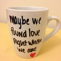Thinking Out Loud lyric mug