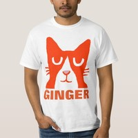 GINGER CAT Orange Panda Kitty T-shirts