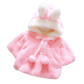 TELOTUNY Baby Girls Cloak Jacket winter warm Coats hooded children clothing a801 4